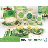 Buy cheap Green Color Bamboo Fiber Dinnerware , Waterproof Non - Odor Bamboo Fiber Dishes from wholesalers
