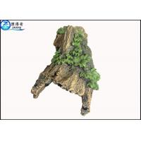 Buy Hollow Log Tree Aquarium Ornament With Green Plants ,  Custom Tropical Fish Tank Decorations at wholesale prices