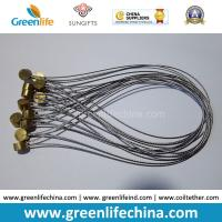 China Stainless Steel Wire Loop 15cm Length w/Clear Plastic Coated & Copper Cylinder OD9*T5mm on sale