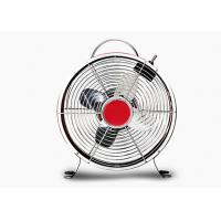 Quality Quiet Decorative Retro Electric Fan 2 Speed 4 Blade Metal Carry Handle for sale