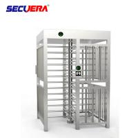 Quality Automatic pedestrian waist high 304 stainless steel swing turnstile with RFID card/fingerprint reader for sale