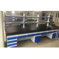 Quality Floor Mounted / C Frame Chemical Laboratory Furniture Lab Island Bench Standard Height for sale