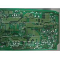 Quality Green Single Sided 3 OZ Copper Printed Circuit Board 2 Layer Routing / Punching / V Cut for sale