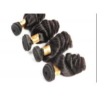 Quality New Style Full Cuticle Loose Wave Hair  Extensions #1B Remy Human Hair Weave for sale