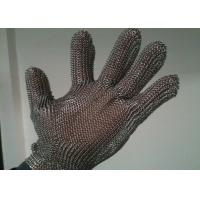 Quality Stainless Steel Cut Resistant Gloves , Oil Resistance Steel Mesh Cutting Gloves for sale