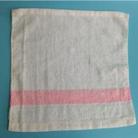 Quality Solid Color High Quality Pure Cotton Airline Towel Satin Border for sale