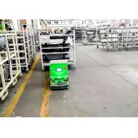Buy 2 Tons Loading Unidirectional Tugger AGV Cart For Washing Machine Line Long Working Time at wholesale prices