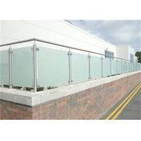 Quality Durable Glass Balustrade Stainless Steel Handrails , Tempered Glass Railing Systems for sale