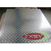 Buy Silver 5052 Treadplate Embossed Aluminium Sheet Bright Finished , Aluminium Plate at wholesale prices
