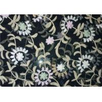 Quality 100% Polyester Embroidered Fabrics Contemporary Upholstery Fabric for sale