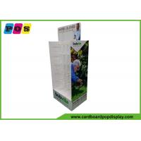 Quality Double Sided Cardboard Store Display , Plastic Pegs Cardboard Box Display For Shovel Gloves HD069 for sale