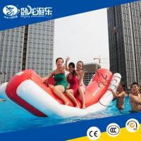 China 0.85mm PVC floating inflatable water seasaw, new inflatable water toys for river or sea on sale
