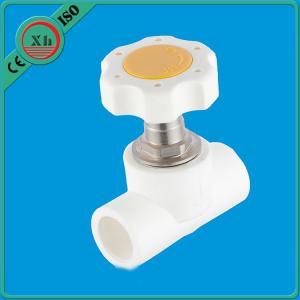 Quality Polypropylene Random Base PPR Stop Valve , Plastic Handle Plastic Water Stop Valve for sale