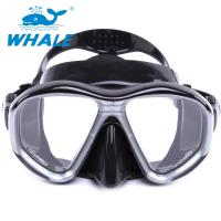 Quality Tempered Glass Diving Mask with Silicon Mouth Piece , Crystal Clear View for sale