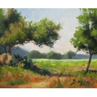 Quality landscape painting tree painting house painting for sale