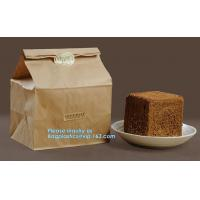 Heat seal pouch&kraft paper plastic bread packaging bag,Portable High Quality Craft Paper Bread Bags, BAGEASE PACKAGE