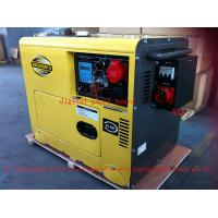 Quality 8KVA Yellow Color Silent Type Small Diesel Generators Set With ATS , Low Oil Alarm System for sale