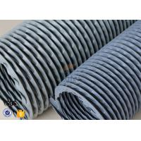 "Quality 6"" Grey PVC Coated Fiberglass Fabric Flexible Air Duct For Fume Extraction for sale"