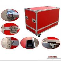 Quality Blue Plywood AluminumTool Cases With 13cm Height Wheels for sale