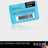 China PVC Plastic Barcode Cards Printable Glossy Surface , Custom Printed Plastic Cards on sale
