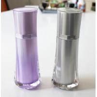 Buy 50ml new design skirt shaped make up arylic cosmetics plastic pearl white bottle at wholesale prices