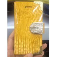 China Fashionable Bling patterns wallet diamond magnet leather case for Iphone 5/5s on sale