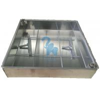 Quality Silver Color Metal Drain Grate Water Drain Box For Construction Ground for sale