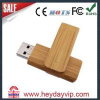 Quality Bamboo USB Drives With Swivel Design for sale
