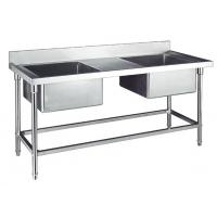 Buy cheap Double Sink for Kitchen Washing Stainless Steel Catering Equipment 1200*700*800+150mm from wholesalers