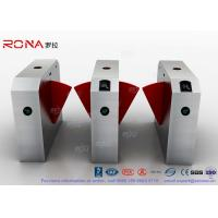China 304 Stainless Steel Flap Barrier Gate Door Security Access Control Turnstile Gate Anti-Pinch Card Code on sale