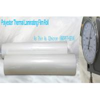 Quality Thin PET Laminating Film Glossy Finish for sale