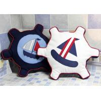 Buy cheap Patchwork Personalized Fashion Gifts Cotton Navy / White Embroidered Patchwork Rudder from wholesalers