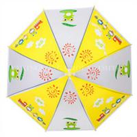 Quality Promotional Auto Open Kids Rain Umbrellas With Heat Transfer Printing for sale
