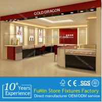 Quality Luxurious Wooden Jewelry Display Showcases With LED lights for jewelry store for sale