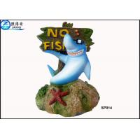 Quality No Fishing Mark Cute Modern Fish Tank Ornaments Aquarium Resin Decorations with Dolphins for sale