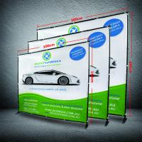 Quality 8 X 8 Collapsible Display Stand , Dye - Sub Printing Retractable Banner Display for sale