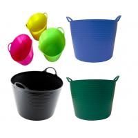 Buy 12L Household Soft Folding Plastic Cleaning Bucket Tub with Heavy Duty Handle for Multi - function at wholesale prices