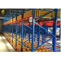 China Warehouse Push Back Racks , Pallet Flow Racking System With RAL Color on sale