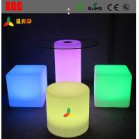 Quality Changeable Colors LED Table And Chairs , Rechargeable LED Bar Chair With Round Shape for sale