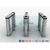 Quality Fingerprint Pedestrian Swing Gate Turnstile RFID Card Reader Anti Pinch Mechanical Structure for sale