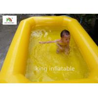 Quality Yellow Double Tubes Blow Up Swimming Pool For Children In Backyard for sale