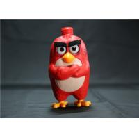 Red Angry Birds Figures Shampoo Pump Bottle , Cartoon Lotion Bottle 5 Inch