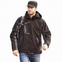 Quality Men's Softshell Jacket, Windbreaker, Outdoor Wear and Casual Coat, Waterproof, Fashionable Design for sale