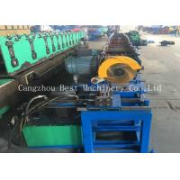 Quality Customized Oval Duct Pipe Roll Forming Making Machine 380v 4.5kw Power for sale