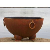 Buy Outdoor Ancient Design Rusted Steel Fire Pit , Copper Fire Pit Bowl For Yard at wholesale prices