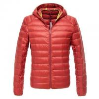 Quality Cheap Men stock clothing,down feather zipper coats & Brand winter down jacket with hoodie for sale