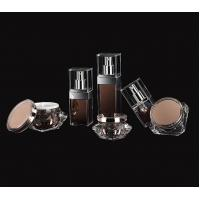 Quality Luxury Acrylic Lotion Bottle 15ml 30ml 50ml square plastic cosmetic  bottle for sale