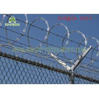 Quality Concertina Single Coiled Razor Wire / Concertina Fencing Wire Without Clips for sale
