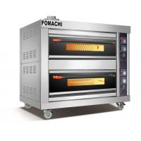 Quality Gas Deck Oven 2 Deck 4 Trays Front Stainless Steel Electric Deck Oven FMX-O41B for sale