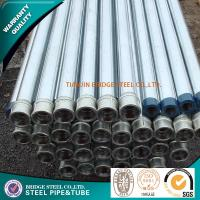 Quality Q195 Q235 Structure Steel Pipe , ERW Round Steel Tubing BS1387 ASTM A53 for sale